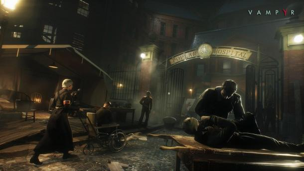 Some screenshots from the game Vampyr Vampyr
