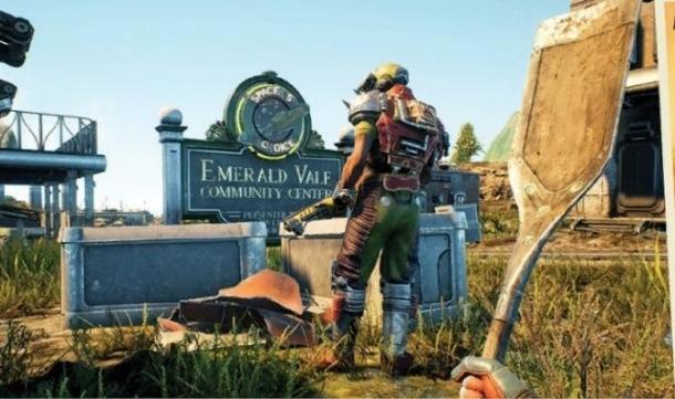 The screenshots from Game Informer emergency number and The Outer Worlds The Outer Worlds