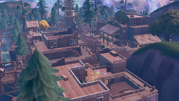 The Fortnite teaser dedicated to new locations on the place Tilted Town Fortnite