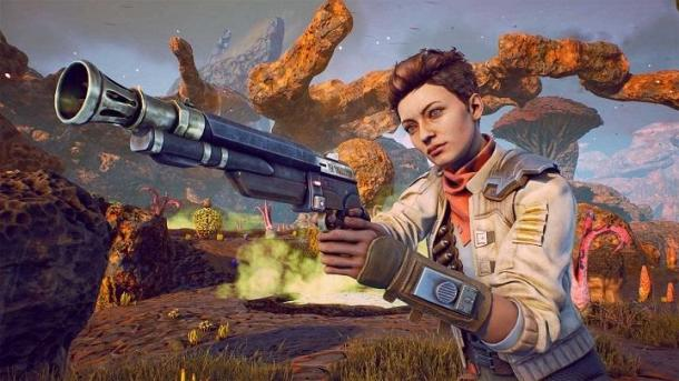 40 minutters gameplay Den Ydre Verdener The Outer Worlds