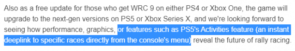 Edition of GameReactor spoke about the announced functions PS5 WRC 9