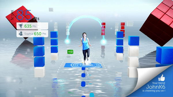 Screenshots from the game Your Shape Fitness Evolved 2012
