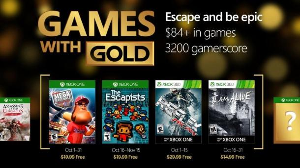 Free games for Gold subscribers on Xbox Live in October Game industry
