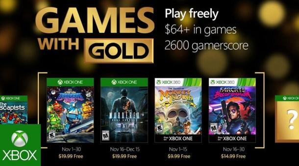 Named list of the November Xbox Live Gold Game industry