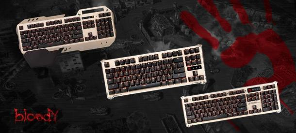 Overview keyboard A4Tech Bloody B830 's iron