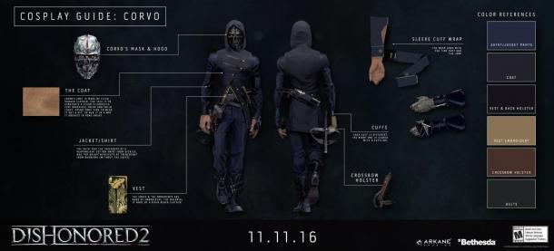 Guide to cosplay heroes Dishonored 2 Dishonored 2: Darkness of Tyvia