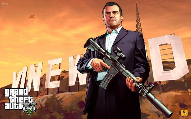 Wallpapers with characters from the game Grand Theft Auto 5