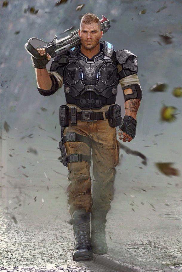 Concept art of the characters in Gears 4 Gears 4